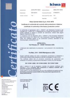 Certificato conglomerato bituminoso