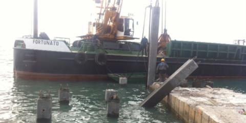 palancole da motopontone Trieste